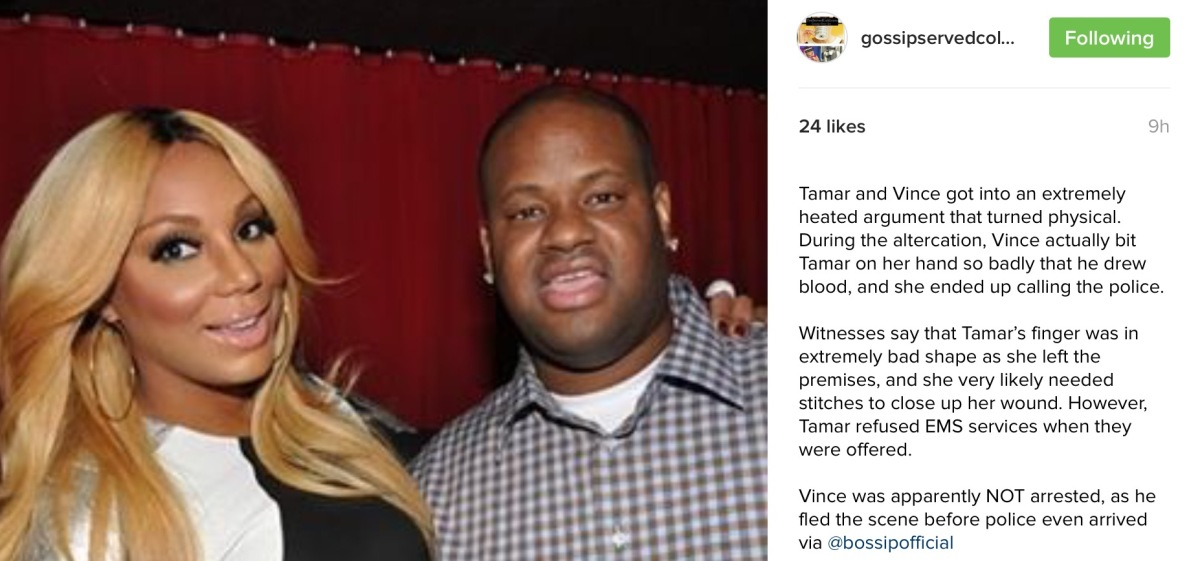 I'm Calling The Police Boo - Tamar and Vince In Domestic Altercation