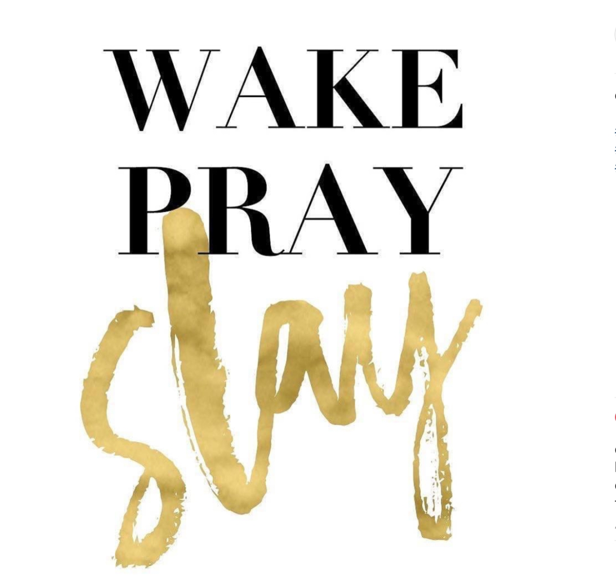 Wake Up, Pray Then Slay Your Dreams